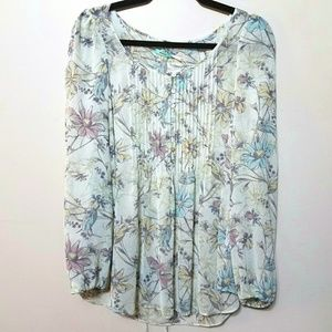 NWT urban outfitters muted floral peasant blouse